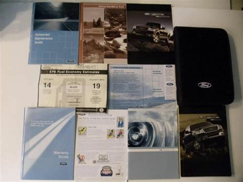 ford   owners manual book set