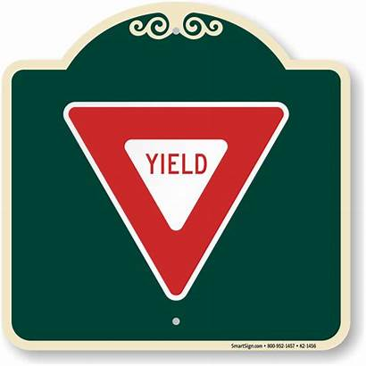 Yield Sign Symbol Signature Crosswalk Pedestrian Signs