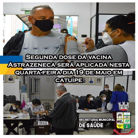 QUARTA FEIRA DIA 19 TERÁ APLICAÇÃO DA SEGUNDA DOSE DA ...