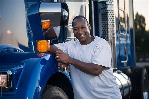 driver truck male african drivers american portrait stocksy trucks united