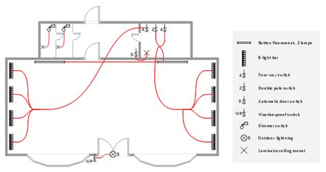 Lighting Switch Layout Design Elements Electrical