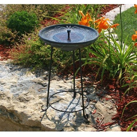 1sale smart solar somerset verdigris solar bird bath