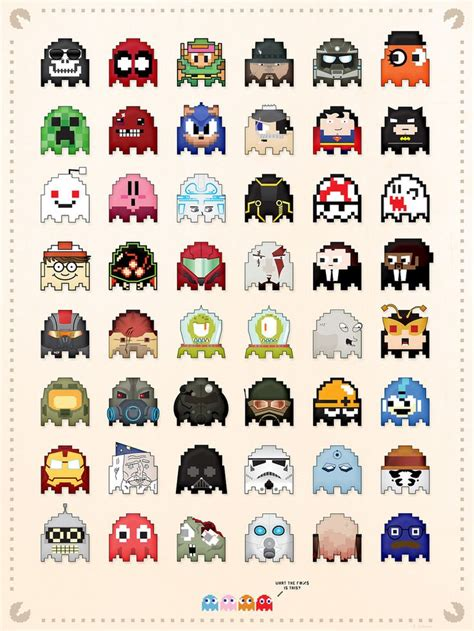 Pacman Ghosts Gaming Pacman Art Design Info