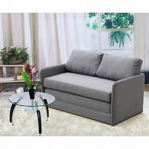 kathy reversible 51 inches foam fabric loveseat and sofa With foam loveseat sofa bed