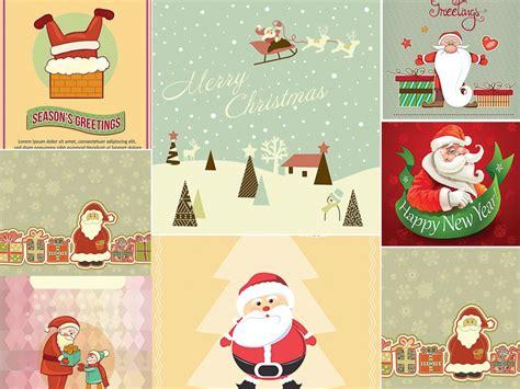 Santa Claus Card By Benchart Vectors Eps Santa Claus Giftcard Set Vector Free