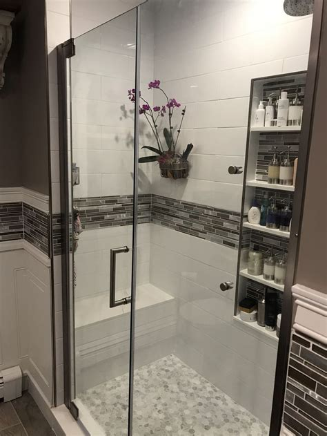 love  shower orchid  extra large niche bathroom