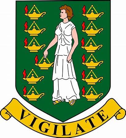 Virgin Islands British Constitution Arms Coat Svg