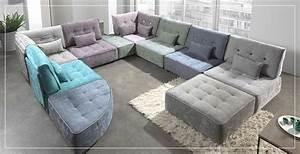 Canapé D Angle Modulable : canap d 39 angle modulable sofamobili ~ Melissatoandfro.com Idées de Décoration