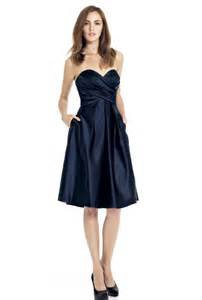 navy dresses for wedding strapless navy blue bridesmaid dresses cherry