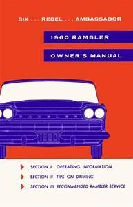 Owner U0026 39 S Manual  Factory Authorized Reproduction  1960