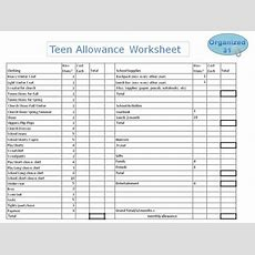 Comprehensive Allowance And Budgeting For Teens  Part Two  Organized 31
