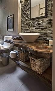 best meuble salle de bain bois brut pictures amazing With meuble de salle de bain bois brut
