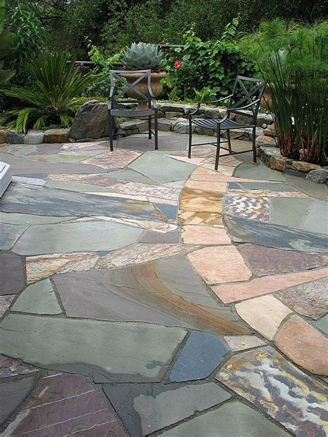 Flagstone Patio Designs by Much Better Than Sted Concrete Or Traditional Flagstone