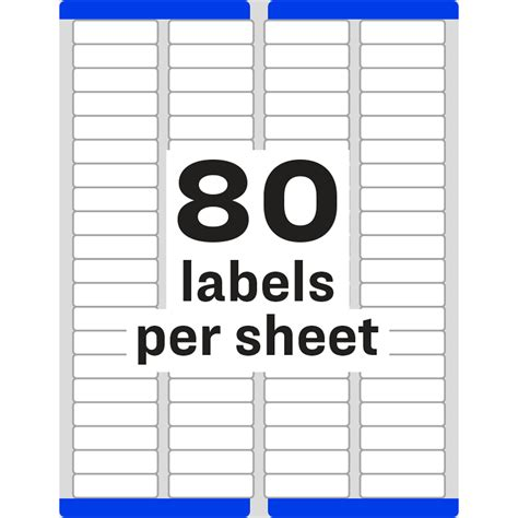 return label template avery return address label