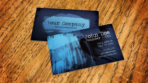 create  business card mockup  smart objects