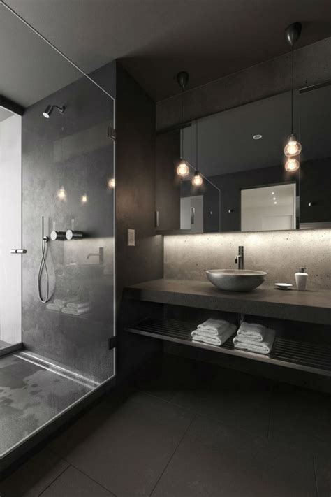 Modern Black Bathroom Ideas by Back In Black With 10 Bathroom Design Ideas