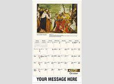 Catholic Art Promotional Calendar 65¢ Fundraising and