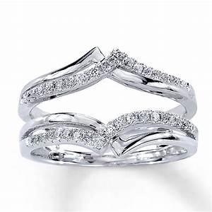Diamond enhancer ring you put your engagement ring in for Engagement ring enhancer wedding band
