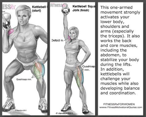 kettlebell squat jerk bell exercise fitnessmotivationalquotes