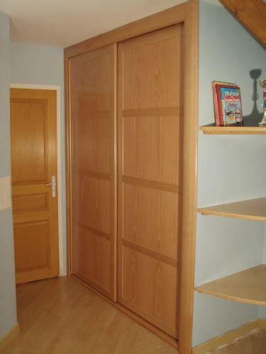 conception chambre placard dressing en bois de hêtre sur mesure posé à meudon