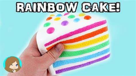 chawa rainbow cake silly squishies squishy package