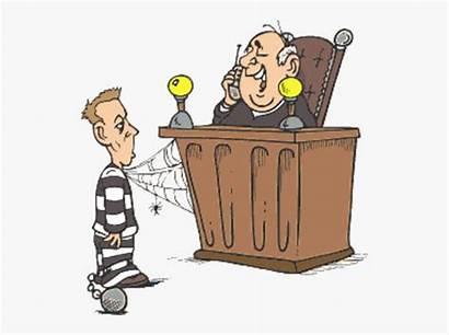 Judge Cartoon Prisoner Clipart Criminal Clipartkey