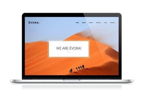 evora website template design web themes wordpress theme