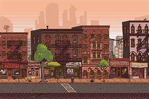 Urban Buzz city street   Pixel Art   Pinterest   To be ...