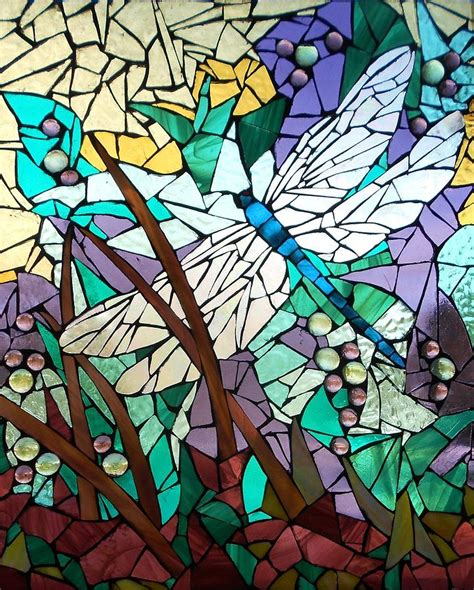 mosaic stained glass dragonfly 3 glass by catherine