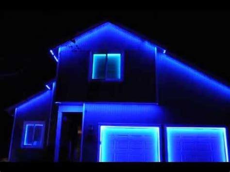 permanent led christmas lights calgary permanent led holiday lighting youtube