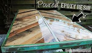 http://beachbumlivin com Pallet Wood Coffee Table!! Hometalk