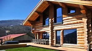 Un chalet en rondins de bois : une maison design et écolo