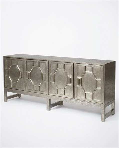 Metal Sideboards by Hammered White Metal Sideboard Luxe Furniture