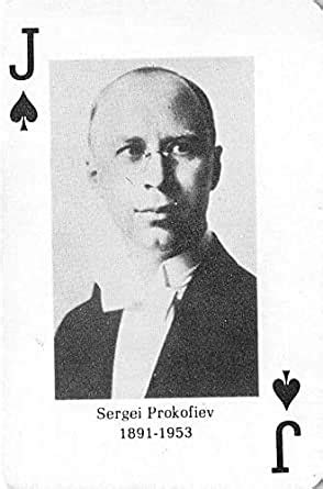 Sergei Prokofiev gaming playing card Classical Composers # ...