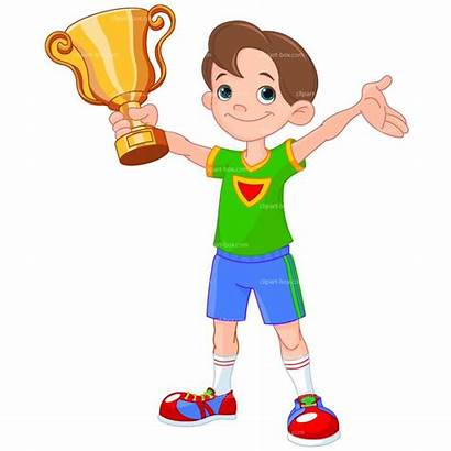 Winner Clipart Winning Cup Cartoon Clip Athlete
