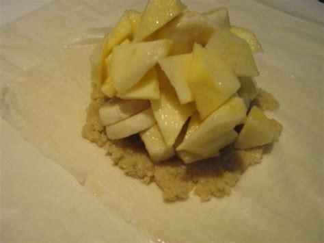 chausson pommes banane et amandes recette