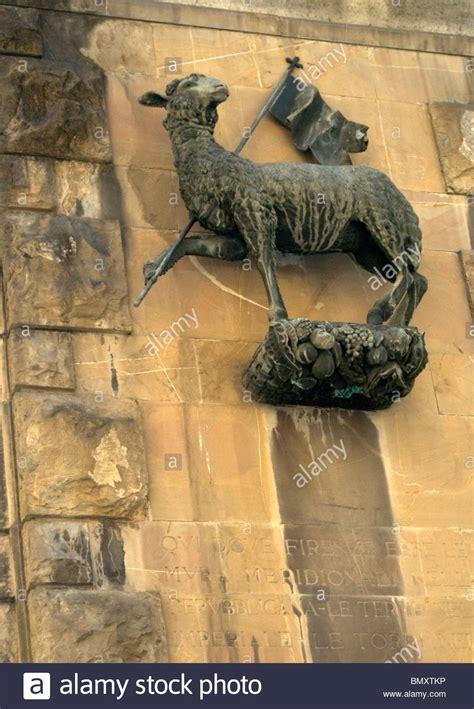 agnus dei  lamb  god statue   wall