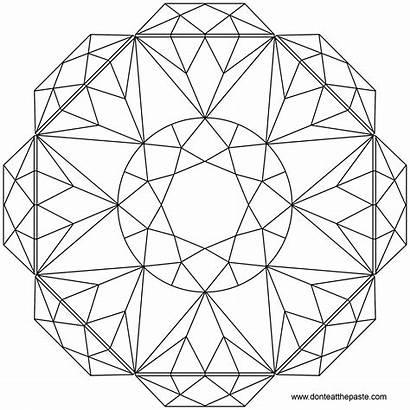 Mandala Brilliant Coloring Pages Cut Paste Transparent