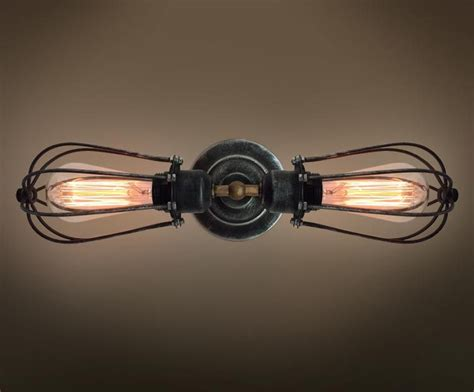 vintage style industrial wall light edison l nautical
