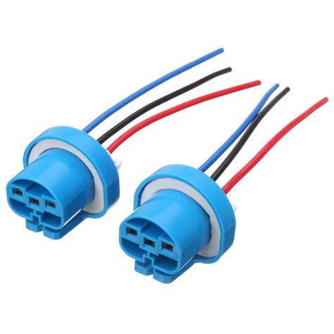 Pcs Led Bulb Lamp Light Wire Connector Plug Socket Holder