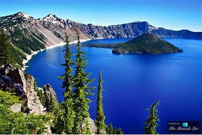 Crater Lake Oregon Pinnacle National Park Volcanoes