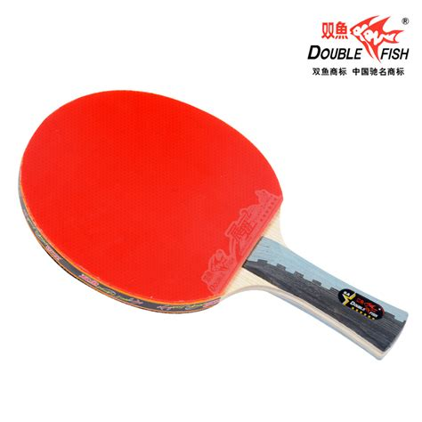 best chinese table tennis rubber double fish 6 star table tennis racket with rubber pips in