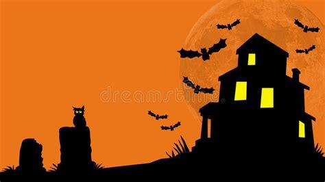 haunted house hill stock illustration illustration