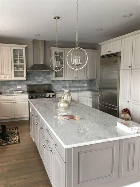 premium super white quartzite modern kitchen chicago