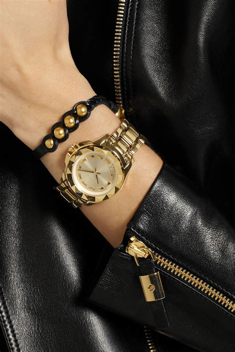 karl lagerfeld karl 7 goldtone stainless steel watch in