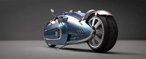 """Just like the 2019 la voiture noire, the 2020 centodieci is a significant departure from the chiron it is based on, sporting a notably. BUGATTI """"coureur de meteore"""" concept on Behance in 2020   Concept motorcycles, Futuristic ..."""
