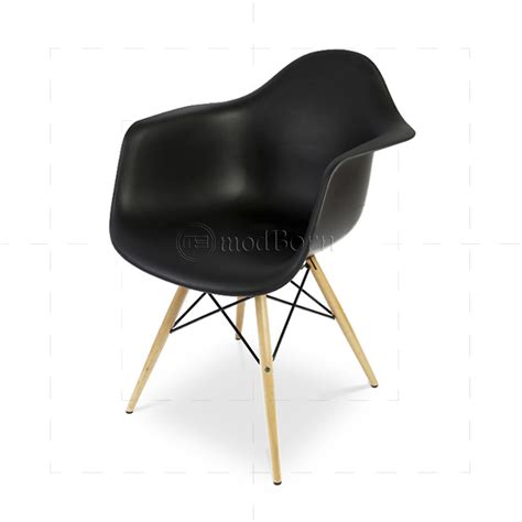 eames style dining daw arm chair black