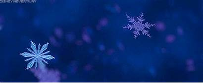 Frozen Snow Gifs Disney Winter Snowflake Animated