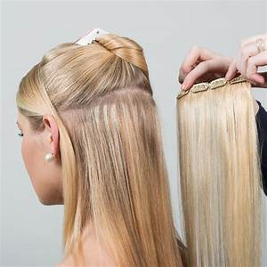 Clip In Female Luxurious Hair Extensions For More Length