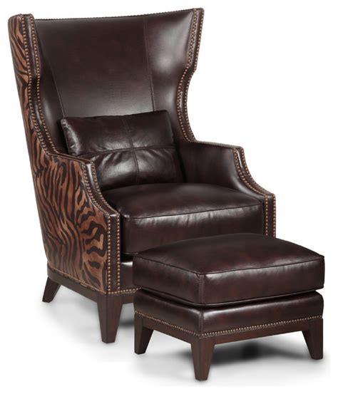 Simon Li  Ee  Zebra Ee   Print Leather Accent  Ee  Chair Ee    Ee  And Ottoman Ee    Ee  Set Ee